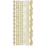 Dazzles Stickers -Gold Borders
