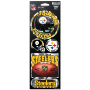 Pittsburgh Steelers Official NFL 27cm x 10cm Prismatic Car Decal Set Pitt Wincraft