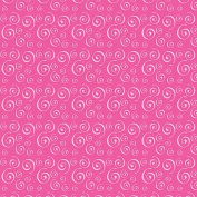 Hot Off The Press - Bright Tints Pink Swirls Paper