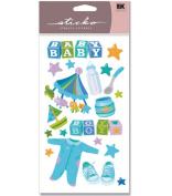 EK Success Sticko Stickers - Baby Boy Vellum