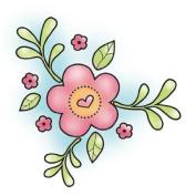Spring Flower Hippity Hop Snag 'Em Stamp
