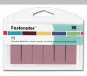 EK Success Fastenater Staple Bars Baby Pink New Pkg. of 72