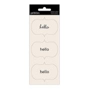 Basics Self-Adhesive Sentiment Labels 4.4cm x 6.4cm 9/Pkg-Hello