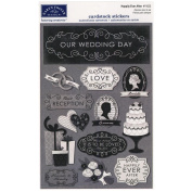 Karen Foster Design Acid and Lignin Free Scrapbooking Sticker Sheet, Happily Ever After