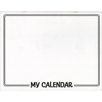 Make Your Own Calendar Book 11`X8-1/2` -White 341789 Notions - In Network