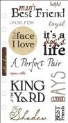 EK Success Phrase Cafe Clear Stickers-Man's Best Friend