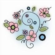 Imaginisce Perfectly Posh Flowers Stamp