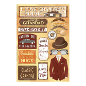 Karen Foster Design Acid and Lignin Free Scrapbooking Sticker Sheet, Classic Grandpa