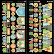 Mother Goose Cardstock Die-Cuts 15cm x 30cm Sheets 2/Pkg-Banners