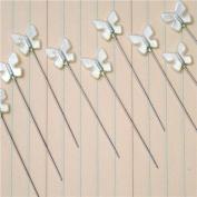 Vintage Butterfly Trinket Pins 5.7cm 30/Pkg-Pearl