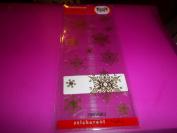 Stickeroni Christmas Gold Snowflake Stickers