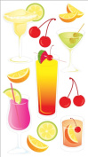 Jolee's Boutique Vellum Stickers, Party Drinks