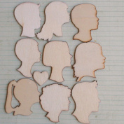 Love Portraits Wood Embellishments 10/Pkg-3.8cm To 4.6cm