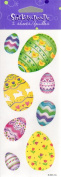 Decorated Easter Eggs Scrapbook Stickers