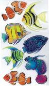 Jolee's Boutique Dimensional Stickers-Vellum Tropical Fish