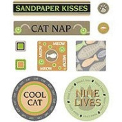 Cat Theme Accent Scrapbook Stickers