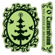 Inkadinkado Cling Stamps, Christmas Tree Cameo, Mini