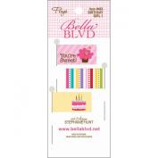 Bella Blvd Birthday Girl 1 Flag Scrapbook Embellishment