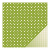 American Crafts Basics Double-Sided Cardstock 30cm x 30cm -Leaf Dot