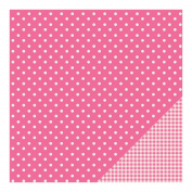 American Crafts Basics Double-Sided Cardstock 30cm x 30cm -Begonia Dot
