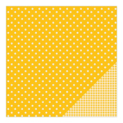 American Crafts Basics Double-Sided Cardstock 30cm x 30cm -Honeycomb Dot