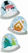 Christmas Paper Bliss Adhesive Embellishments - Holiday Snowglobes