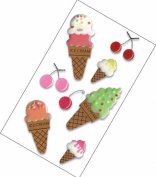 Jolee's Boutique Dimensional Stickers-Ice Cream Cones