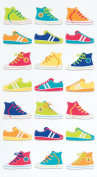 EK Success Brands Decorative Sticko Stickers, Funky Kicks