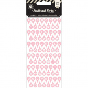Pink Paislee Sentiment Series V.1 Typecast Alphabet Stickers - Pink
