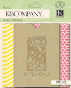 K & Company Mini Bags for Paper Craft, Handmade Printed