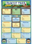 Karen Foster Design Acid and Lignin Free Scrapbooking Sticker Sheet, Family Tree