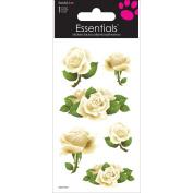 Sandylion White Roses Essentials Handmade Sticker, 5.1cm by 15cm