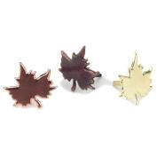 Metal Paper Fasteners 50/Pkg-Leaf/Metallic