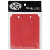Maya Road ML2588 Manila Shipping Tags No.5 Scrapbooking Embellishments, Cherry Red