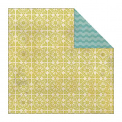 Indie Chic Citron Double-Sided Paper 30cm x 30cm -Time Honeydew