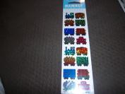 Train Prismatic Scrapbook Stickers