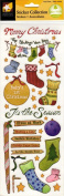 Christmas Stockings Scrapbook Stickers