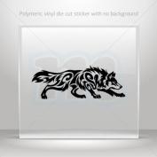 Stickers Decals Tribal Wolf Attack car helmet window bike Garage door 0502 RS249