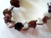 Bead, Rhodonite Zuni Style Bead Bead 18x13mm