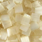 Ivory Mist Tila Beads 7.2 Gramme Tube By Miyuki Are a 2 Hole Flat Square Seed Bead 5x5mm 1.9mm Thick with .8mm Holes