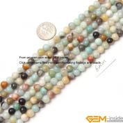 Gem-Inside Round Amazonite Stone Beads Strand 38cm Jewellery Making Beads