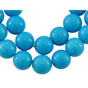 Natural Howlite Gemstone, Round, Dyed Blue, 5mm 1 Strand/ Pkg