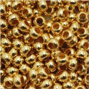 Genuine Metal Seed Beads 6/0 Gold Tone Gilding Metal 33 Grammes