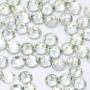 LOVEKITTY - Clear - 1000 pcs 3mm & 5mm Mixed Sizes Rhinestones Round Flatback 14-facet