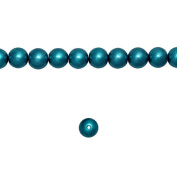 1 Strand Peacock Blue Glass Pearl Spacer Round Loose Beads Fit Necklace Bracelets Wholesale 4x4x4mm 200pcs GP0001-21