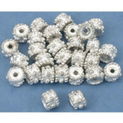 Rope Bali Spacer Beads Silver Plt Beading 6mm Approx 25