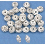 Bali Spacer Beads Silver Plated Beading 7mm Approx 30
