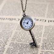 Antique Key Fashion Alloy Pendant Watch Necklace Pocket Watch Christmas Gift
