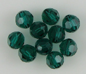 10 6mm. crystal round 5000 Emerald beads