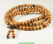 8mm 108 Beads Tibetan Prayer Mala Wood Necklace-N018
